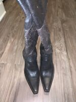 old gringo women boots 6.5 crackled chocolate brown 💯 % leather