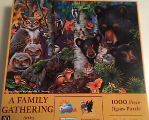 A FAMILY GATHERING by Jerry Gadamus - WILDLIFE SunsOut 1000 piece puzzle