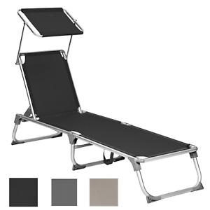 Sonnenliege Liegestuhl Gartenliege 193x55x31 cm Alu-Gestell klappbare bis 150 kg