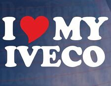 I LOVE/HEART MY IVECO Novelty Vinyl Sticker/Decal for Iveco Truck/Lorry/Window