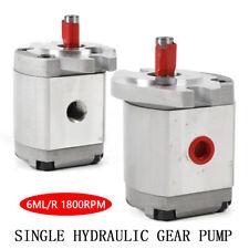 Mini High Pressure Hydraulic Gear Pump Flat Key Shaft Sae 6mlr Aluminum Alloy