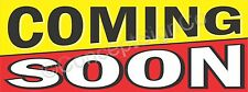 1.5'X4' COMING SOON BANNER Outdoor Indoor Sign New Store Grand Opening Now Open