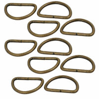 25mm Inner Width Iron Metal Non Welded Half Round D Ring Bronze Tone 10pcs
