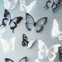 18pcs DIY 3D Butterfly Wall Stickers Art Decals PVC Rooms L0C0 Decor L5Q6