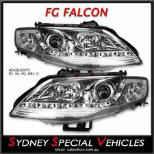 FALCON FG DRL CHROME HEADLIGHTS - PROJECTOR LED FOR XT FPV GT & G6 G6E