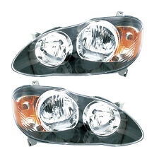 05-07 Toyota Corolla S/XRS Headlight Assembly Driver Passenger Side Pair