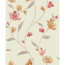 Holden K2 avonlea motivo fiori fiore metallico texture Carta da parati in vinile rosso