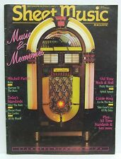 Sheet Music Magazine Memories Carole King Mitchell Parish September/October 1990