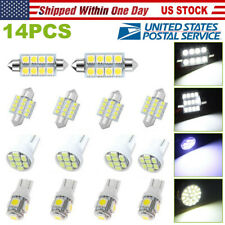14Pcs Led Interior Package Kit For T10 36mm Map Dome License Plate Lights White(Fits: Badger Fwd)