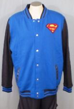 Superman Mens' Letterman Jacket Blue XL New Cotton Blend