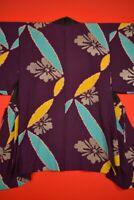 Vintage Japanese Kimono Silk Antique BORO HAORI Kusakizome  Dyed/YA75/740