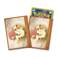 Pokemon Center Card Sleeves Japanese Pikachu Deck Shield Ash's Hat Kalos 64pcs