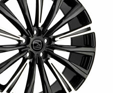 """HAWKE Chayton  22"""" Alloys x4  Black Highlighted fits LAND ROVER DISCOVERY 3 III"""