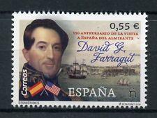 Spain 2018 MNH Admiral David Farragut Visit Spain 1v Set Ships Boats Stamps