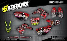 RMz 250 graphics decals kit SCRUB 2007-2009 stickers MX '07-'09 Motocross
