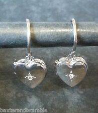 Orecchini di metalli preziosi senza pietre pendente in argento