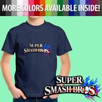 Super Smash Bros Nintendo Symbol Game Title Unisex Kids Boy Tee Youth T-Shirt