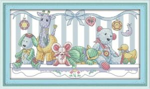 Counted Cross Stitch Kit Plush Toys 🧸 Baby Birth Sampler