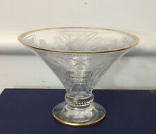 Faberge Gold Rimmed Compote with Box