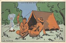 B94166 la tente la vie au grand air postcard france camping  tent