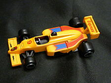 Cake Topper model Figure Decoration Birthday Characters - RACING CAR F1 Orange