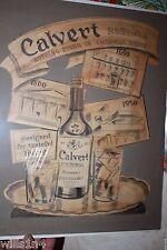 Calvert Reserve Whiskey 1956 Advertising George Bares original illustrator art