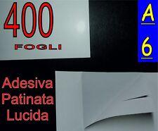400 FOGLI DI Carta adesiva PATINATA lucida fotografica stampante laser A6 GLOSS