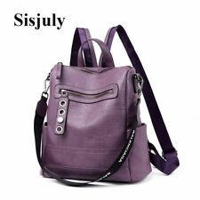 Women Casual Backpack Leather Girls Teenage Solid Small Shoulder Bag