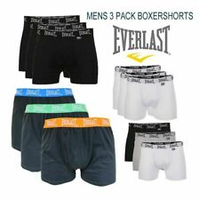 3 PACK BOXER SHORTS EVERLAST BRANDED BLACK WHITE  MEGA DEAL QUALITY BOXERS