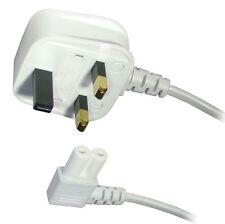 Figura 8 Fig 8 Iec C7 Tv Red Eléctrica Lead Cable Angulado 5m Blanco