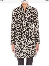 New Auth Burberry London $3195 Plaistow Wool Leopard-Print Coat, Size 4