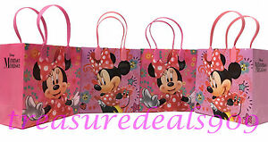 DISNEY MINNIE MOUSE 12 PC GOODIE GIFT BAGS PARTY FAVORS CANDY TREAT BIRTHDAY BAG