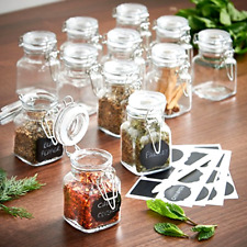 Preserving Storage Glass Jars Air Tight Seal Condiment Containers 12 Piece Set