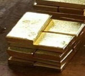 Genuine 1 gram 1g  bar slab Solid Gold  585  bullion  investment