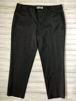 GAP Twill Career Dress Pants Slacks Womens Sz 10 Slim Cropped Gray Stretch