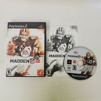 Madden NFL 12 PS2 Sony PlayStation 2 Complete CIB Fast Shipping