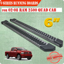 "FOR 02-08 Dodge Ram 1500 Quad Cab 6"" Side Step Nerf Bar Running Boards V Grey"