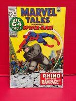Marvel Tales Starring The Amazing Spider-Man #32 Comic Rhino Lizard Iron Man 71'