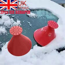 2X Magical Car Windshield Ice Snow Remover Scraper Tool Shaped Round Funnel Cone