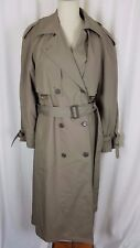Etienne Aigner Insulated Long Belted Cape Top Classic Spy Trench Coat Womens 12