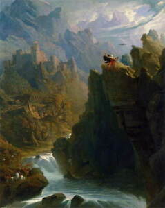 John Martin The Bard Giclee Canvas Print Painting Poster Reproduction LARGE SIZE
