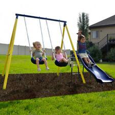 Sportswear Power Play Time Metal Swing Children Outdoor Play Set Steel Tube