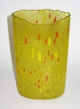 Kosta Boda Art Glass Yellow Vase 49606 Signed Bertil Vallien