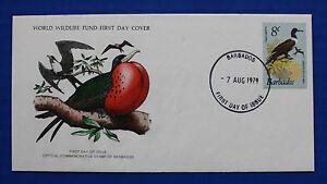 Barbados (498) 1979 Frigate Bird WWF FDC
