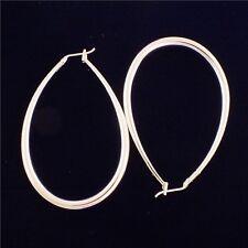 Women Wedding Bridal 925 Silver Ear Stud Hoop Dangle Earrings Fashion Jewelry