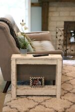 WHITE RUSTIC SIDE TABLE