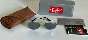 NEW! RB3025 LARGE CLASSIC AVIATOR GRAY SILVER MIRRORED SUNGLASSES SHADES SALE