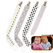 4Pcs/Set Infant Baby Kids Pacifier Clip Arrows & Triangles Pacifer Clips for New