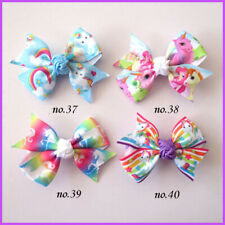 "500 BLESSING Good Girl 2.5"" Wing Hair Bow Clip Unicorn Accessories Wholesale"