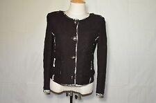 EMILIO PUCCI black and white jacket blazer cotton and silk button up size 10